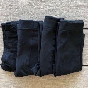 Set of 4 Pairs of Black Leggings Size XS/S